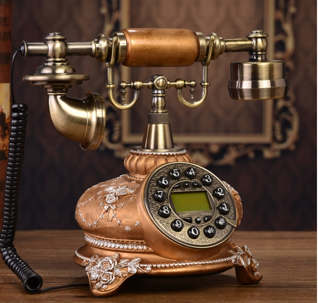 Luxury classic antique telephone fashion telephone Handsfree Backlit Caller ID