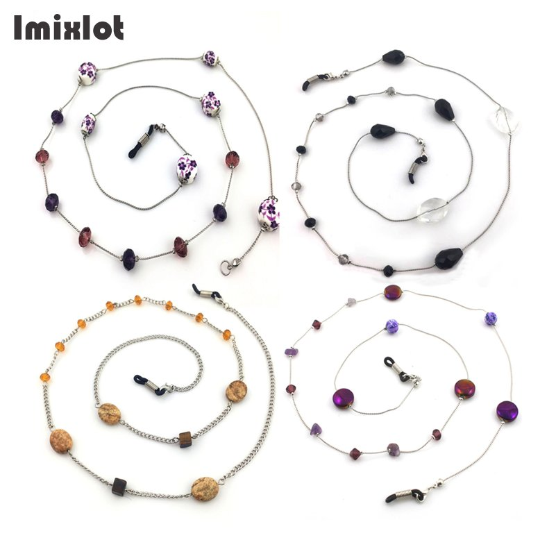 Imixlot Beaded Eyewears Chain Reading Glasses Spectacles Eyeglass Sunglasses Holder Neck Cord Metal Strap Chain