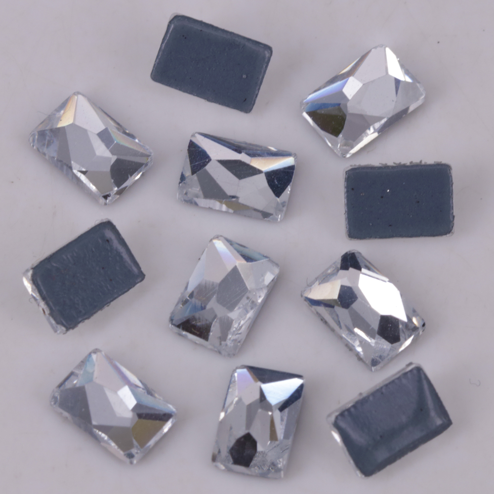 Arts,crafts & Sewing Lead Free 6x8mm Crystal Clear Cosmic Flatback Hotfix Rhinestones 4x6mm Rectangle Iron-on Flat Back Loose Rhinestones Crystal To Enjoy High Reputation At Home And Abroad