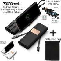 iWalk 20000mah Power Bank Quick Charge QC 3.0 Powerbank Type C with USB C Cable for Xiaomi Mi8 Nexus 5X 6P iPhone X Huawei P20