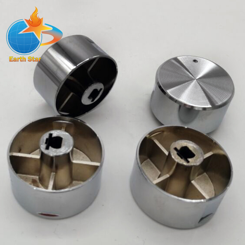 4PCS Rotary switch gas stove parts gas stove knob zinc alloy round knob with chrome plating for gas stove 4pcs set 8mm rotary switch gas stove parts stove gas stove knob stainless steel round knob knob for gas stove