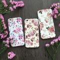 De lujo de alta calidad floral margarita 360 grados proteger plena teléfono case con vidrio templado para el iphone 5,6, 6 s, 6, más 7,7 más cubierta