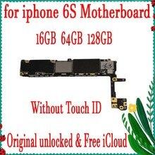 16 Гб 64 Гб 128 ГБ оригинальная разблокированная материнская плата для iphone 6 S 6 S 4,7 дюймов без сенсорного ID материнская плата Система IOS логическая схема платы