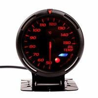 Indicador de temperatura de aceite para ford focus 1 2 mondeo mk3 mustang 50-150 señal con luz colorida 12V Indicador de impulso de coche saat 60mm
