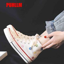 Small Flower Canvas Shoes Female 2019 New Student Korean Version of The Shoes Harajuku ulzzang Small Black Shoes Female Flat D20 watch girl student korean version of the simple retro small small disc female table small round black with black face
