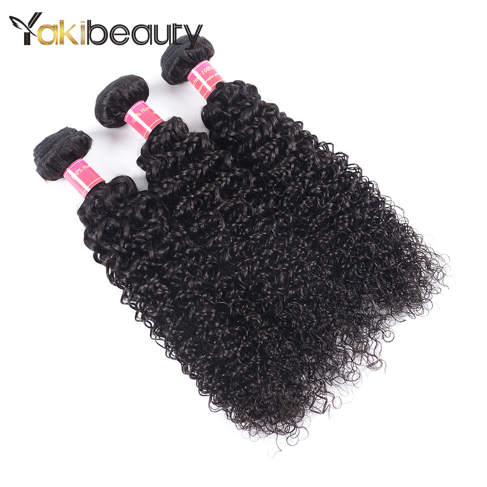 YakiBeauty Hair Remy Peruvian Kinky Curly Bundles 8-28 Curly Weave Human Hair 3pcs/lot Tangle-free Hair Extensions Freeship