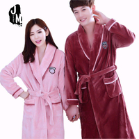 Winter Thick Warm Women Robes New Coral Fleece Sleepwear Long Robe Woman Hotel Spa Plush Bathrobe