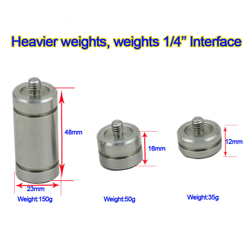 Heavier weights 1/4screw Calibration Balance Weights for tripods and quick release plate camera Tripod Photo Studio Accessories