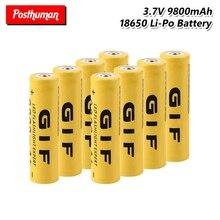 все цены на 3.7V 9800mAh High Capacity 18650 GIF 18650 Battery Rechargeable Lithium Li-Po Li-ion Lithium Battery For electronic cigarette онлайн