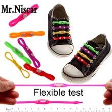 2 Bags/12 Piece Children Adult General Lazy Shoelaces No Tie Shoelaces Love Heart Design Elastic Silicone Shoe Laces