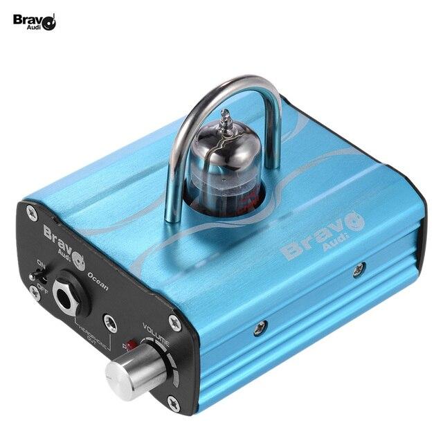Браво Аудио Океан Мини Клапана Класса 12AU7 Tube Усилитель Для Наушников с Стерео RCA/3.5 мм/6.35 мм разъемы