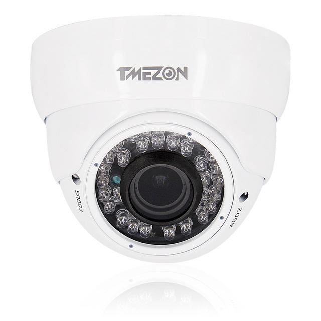 16 pçs/set Câmera Dome Branco 0.3 megapixel câmera de Alta Definição de Vigilância de Segurança CCTV 48 Leds IR Night Vision até 120ft