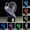 3D Colorful Snail RGB Illusion Night Light 7 Colors Change Gradient LED Table Exhibition Hall Lamp