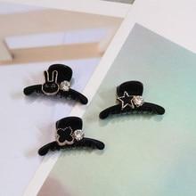 1pcs Cute Mini Fashion crystal Clover stars rabbit crab Hair Clip Claws For Women Girl Hairpins Jewelry headwear accessories
