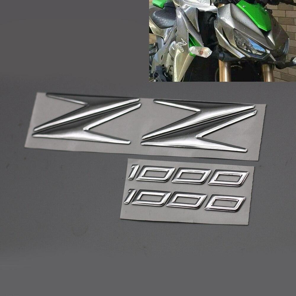 z1000 3d chrome logotipo da motocicleta vinly z forma adesivos decalques para kawasaki z 1000 todos