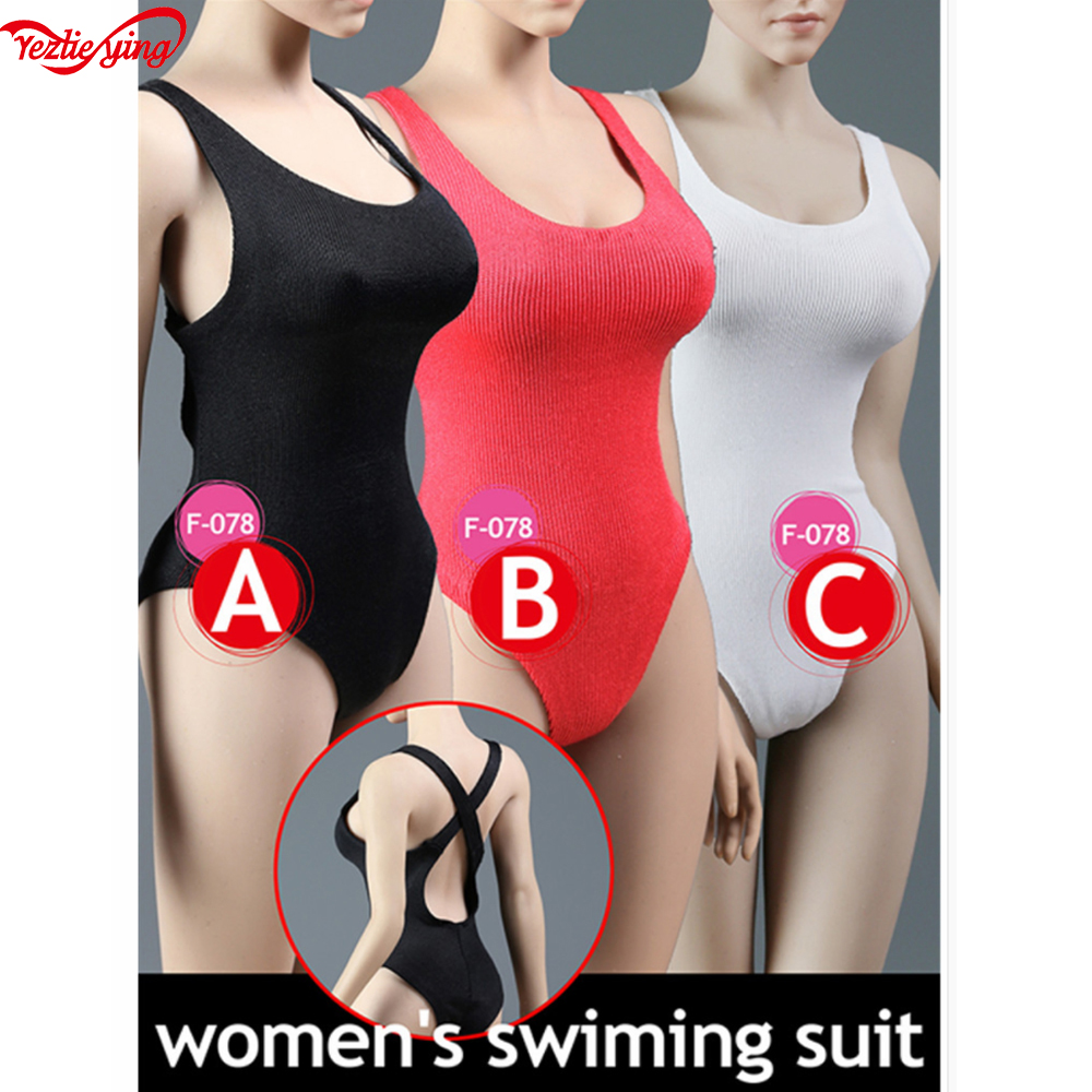 MagiDeal 1//6 Scale Swimsuit Bikini for 12/'/' Female Action Figures Body Pink