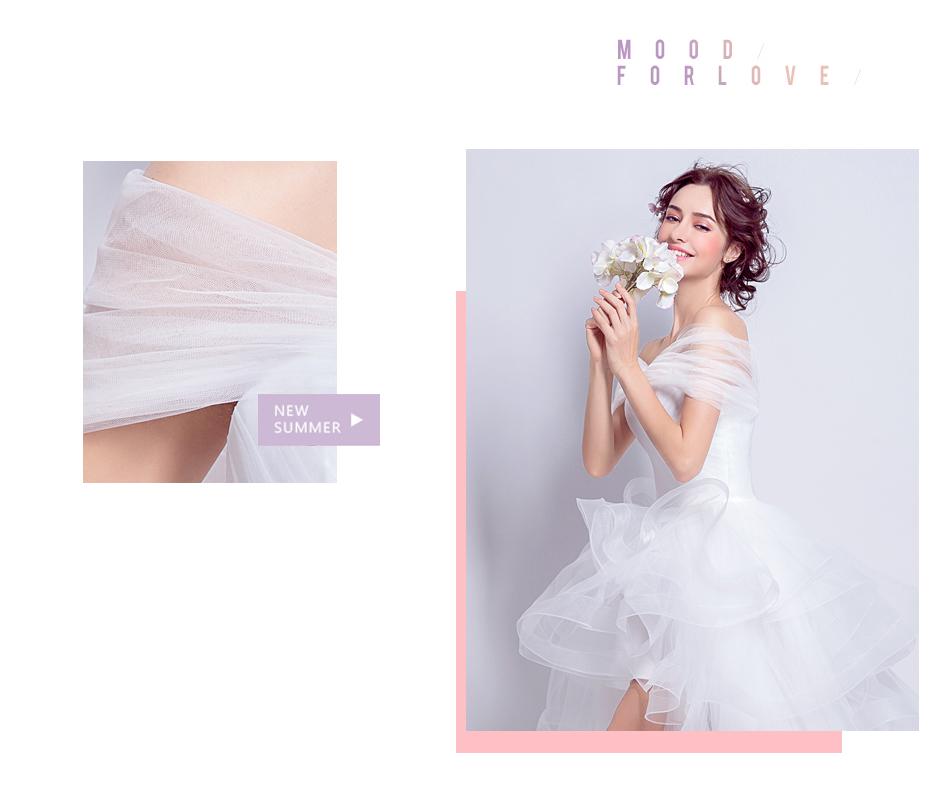 Angel Wedding Dress Marriage Evening Bride Party Prom Bridal Gown Vestido De Noiva 2017 Boat Neck asymmetrical7207 4