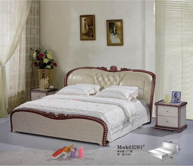 diamante tufted moderno francs cuero saco de cama muebles de dormitorio de matrimonio hecho en china