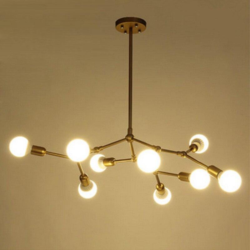 ᑎ‰Moderno LED colgante luces comedor oro Globos terráqueos lámparas ...