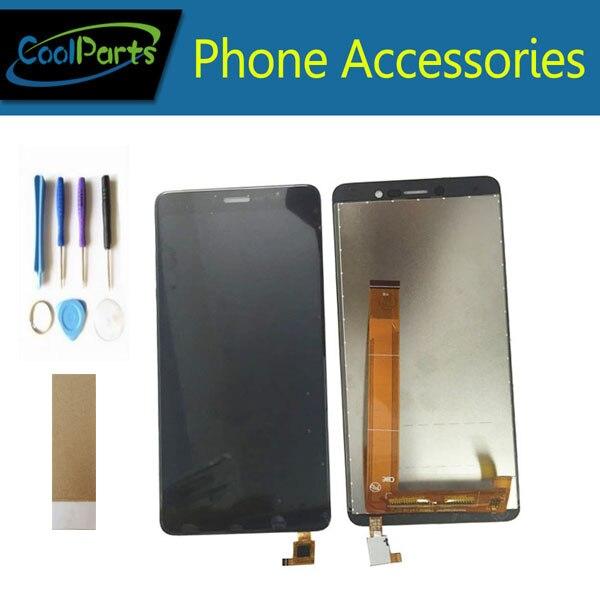 1 pc/lot Pour BQ BQ 5508L BQ-5508L BQS-5508L Prochaine LTE Écran lcd Écran + Écran Tactile Digitizer Assemblée Noir Couleur + bande et Outil
