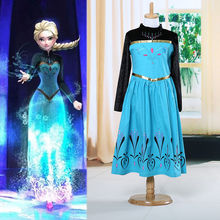 Movies Baby Girls Kids Clothes Spring Autumn Outwear Dress Long Sleeve Princess Costume Party Gown Fancy