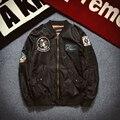 AIRGRACIAS НАСА Куртка Бомбардировщика ВВС Летать Зимние Куртки Леттерман Varsity Американский Колледж Полета Куртка Мужчины Ml XL XXL