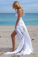 Smileven Spaghetti Straps Wedding Dress Sweetheart Bride Side Split Seay Short Skirt Gowns Boho Vestido De Novia