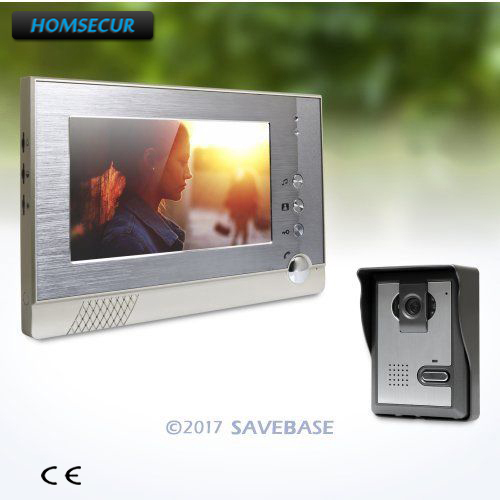 HOMSECUR 7inch Video Door Phone Intercom System with One Button Unlock for Home Security