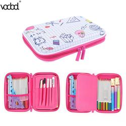 11 Type EVA Large Capacity Canvas Pencil Case Pencil Bag Cute Stationery Pattern Pencil Box Creative Canvas Office School Supply