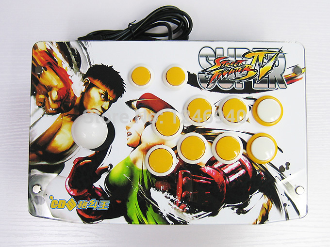 high quality Fighting Stick video Arcade Game 8 Action Buttons Street Fighter IV Joystick Compatible with PC PS2 PS3