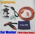 Conveniente portátil 60 W nova electrodomésticos de alta pressão máquina de lavar carro 12 V DC máquina de lavar carro bomba de lavagem do carro dispositivo