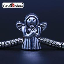 CasaPandora Fashion European Silver-colored Angel Nun Sister Fit Bracelet Charm DIY Jewelry Making