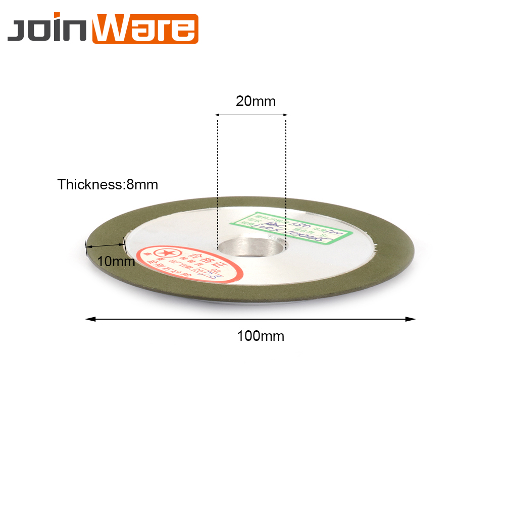 100mm 150# Resin Diamond Grinding Wheel Saw Blade Grinder 16//18//20//25mm Bore 1Pc