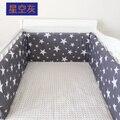 28 Стили Детская Кроватка Бамперы 1 шт. Хлопок Детская Кровать Бампер Лайнер Ребенка детская кроватка Кровать Вокруг Протектор лебедь Облака звезда луна сова автомобилей