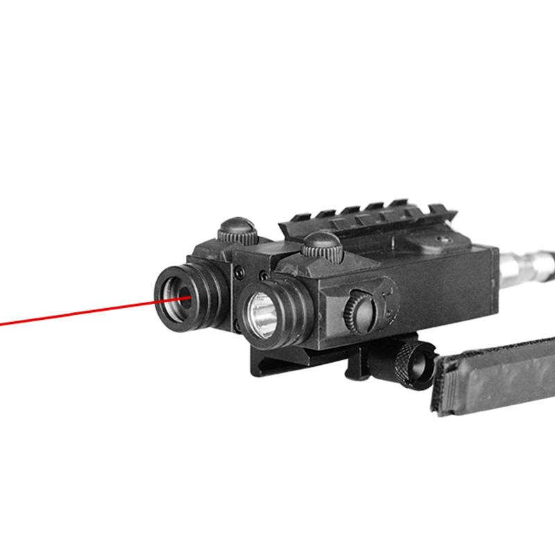 Drop shipping LASERSPEED LS-CL4-R Military Tactical Flashlight Self-defense and Red Laser Sight for Rifles