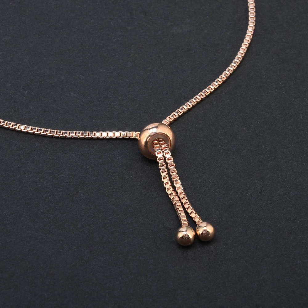 Elegante pulsera salvaje moda mujer Cristal Diamantes de imitación señora brazaletes pulsera joyería longitud ajustable alta calidad oro L0330
