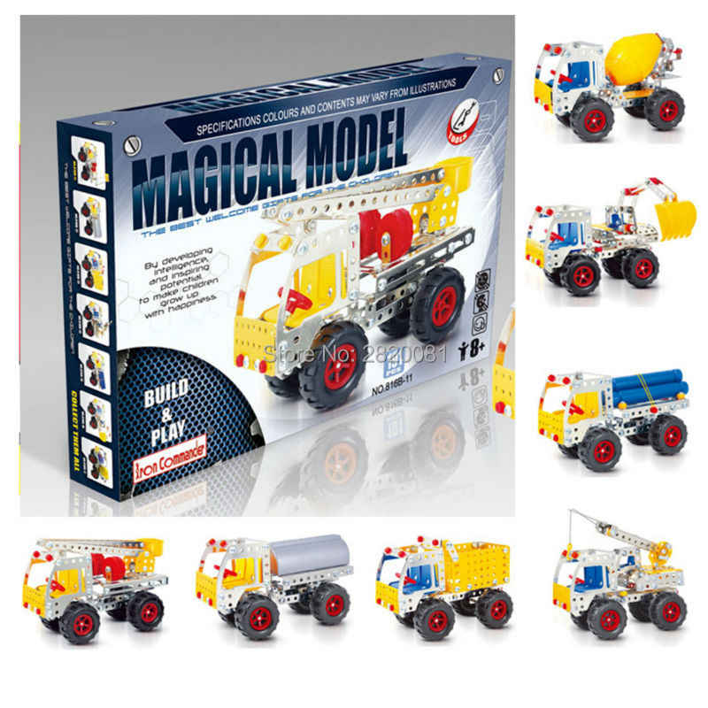 magical model iron building blocks assembled Commander kit,engineering van 8 styles for children's 3D puzzle toy set