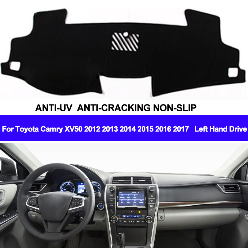 TAIJS Car Dashboard Cover Dash Mat Dash Pad DashMat Carpet ANti-UV NON-Slip For Toyota Camry XV50 2012 2013 2014 2015 2016 2017