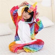 Kigurumi Onesie Wholesale Animal Star Unicorn  Hooded Sleepwear child Unisex Winter Flannel cosplay halloween jumpsuit costumes