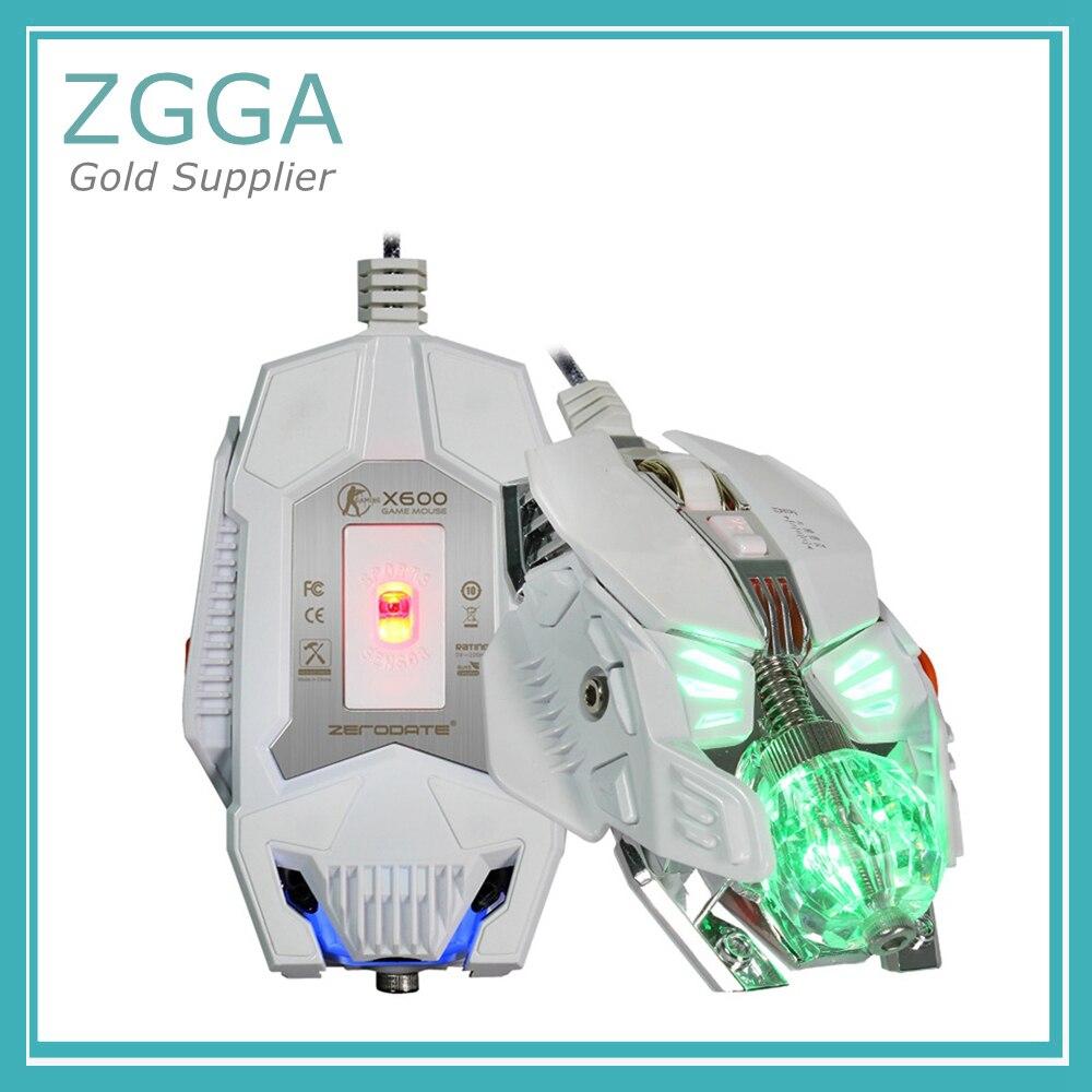 Проводная Механическая макро игра Мышь для Windows 2000/XP/win7/win8/win10 Vista 32bit IOS Gamer светодиодный подсветкой оптическая мышь - 5