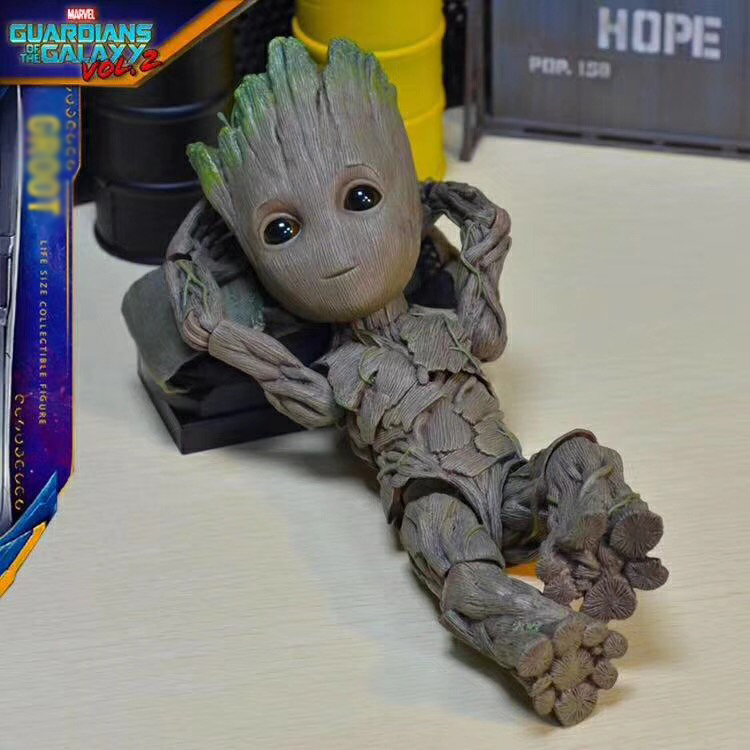 Hot Toys 1 1 Marvel Guardians of The Galaxy Avengers Cute Baby Tree Man Joints Moveable