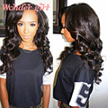 7A Full Lace Human Hair Wigs For Black Women Wondergirl Peruvian Virgin Hair Body Wave Lace Front Human Hair Wigs With Baby Hair