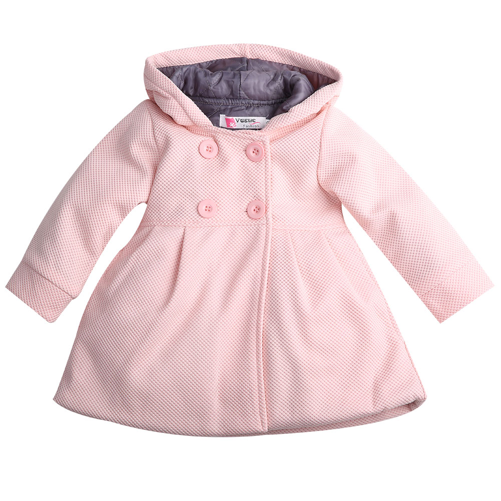 Toddler Baby Girls Winter Warm Hooded Outerwear Parkas Fleece Pea Coat Snow Jacket Suit Clothes Red Pink children winter coats jacket baby boys warm outerwear thickening outdoors kids snow proof coat parkas cotton padded clothes