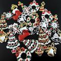 15 unids Estilo Retro Mixta Serie Esmalte Árbol de Navidad Calcetín Donut Regalo Campana Colgante Encantos Del Árbol de Navidad Decoración Colgante 38922