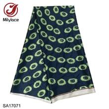 High Quality 2019 African Printing Satin Fabric 5 yards Fashion Digital Nigerian fabric for clothes SA17068-77