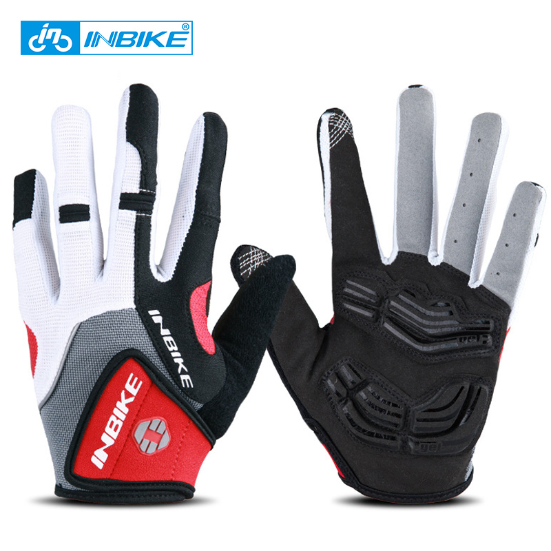 Inbike Cycling Gloves Anti Slip Cycling Gloves Gel Padded Full Finger Bicycle Gloves Men Women Breathable Motorcycle Gym Gloves