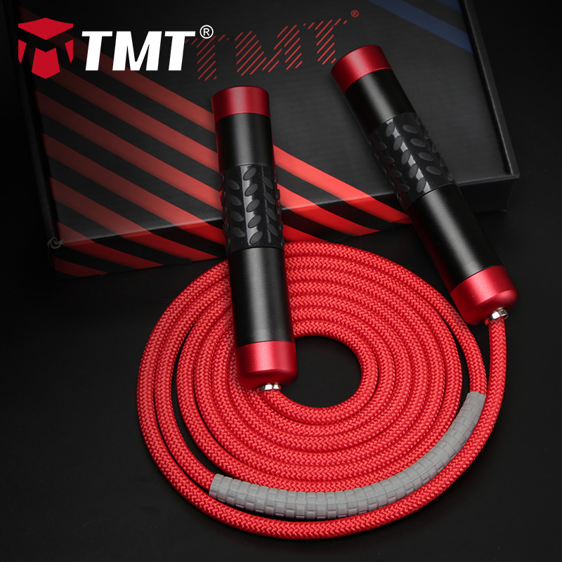 TMT Weighted Jump Rope Crossfit Aluminum Alloy Handle For Fitness Boxing Training Adjustable 3 M Heavy Wire Speed Skipping Rope