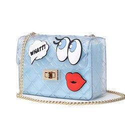 Women cute jelly bag brands lolita bag candy transparent messenger beach bags girls clear graffiti red.jpg 250x250