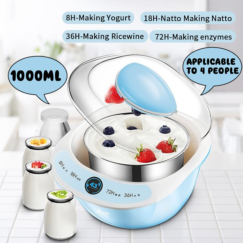 Appliances:  Homemade Automatic Yogurt Maker Natto Multi-functional Thermostatic Machine DIY Tool Plastic Container Kitchen Appliances - Martin's & Co