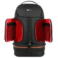 DSLR Waterproof Shockproof Shoulders Camera Backpack Tripod Case w/ Reflector Stripe fit 15.6 in Laptop Bag for Canon Nikon Sony